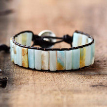Load image into Gallery viewer, The Natural Amazonite Beaded Handcrafted Cuff Bracelet - Soul Sound Baths