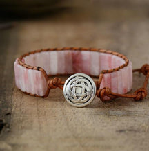 Load image into Gallery viewer, The Natural Pink Opal Stone Wrap Bracelet - Soul Sound Baths