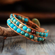 Load image into Gallery viewer, The Natural Tibetan Jasper Stone Wrap Bracelet - Soul Sound Baths