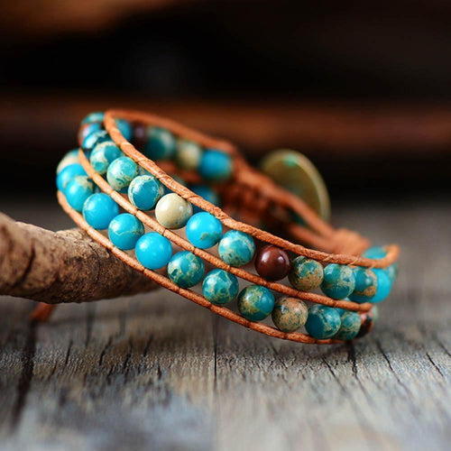 The Natural Tibetan Jasper Stone Wrap Bracelet - Soul Sound Baths