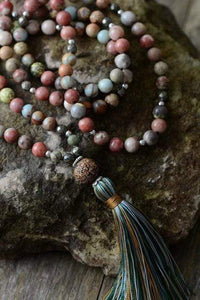 The Pyrite, Jasper & Agate Tassel Necklace - Soul Sound Baths