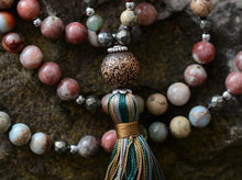 Load image into Gallery viewer, The Pyrite, Jasper & Agate Tassel Necklace - Soul Sound Baths