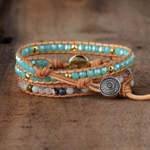 The Rhinestone and Chi Quartz Wrap Bracelet - Soul Sound Baths