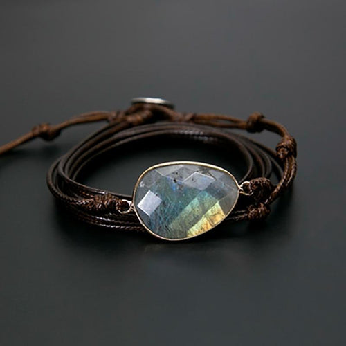The Tibetan Labradorite Wrap Bracelet - Soul Sound Baths