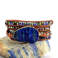 Load image into Gallery viewer, The Vibrant Blue Lapis Lazuli and Natural Gemstone Beads Woven Wrap Bracelet - Soul Sound Baths