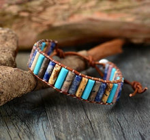 Load image into Gallery viewer, The Aqua Agate & Jasper Premium Wrap Bracelet - Soul Sound Baths