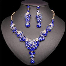 Load image into Gallery viewer, The Blue Sapphire Necklace and Matching Earrings Set - Soul Sound Baths