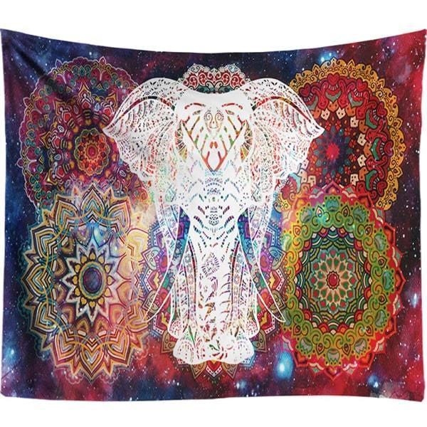 The Metaphysical Elephant Mandala Wall Tapestry Art Piece - Soul Sound Baths