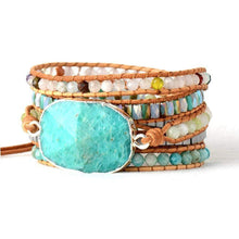 Load image into Gallery viewer, Handmade Natural Amazonite and Mixed Gemstones Wrap Bracelet - Soul Sound Baths
