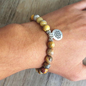 Handmade Natural Crazy Agate Stone Mala Bead Bracelet Varieties - Soul Sound Baths