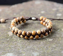 Load image into Gallery viewer, Handmade Natural Jasper Beads Braided Bracelet - Soul Sound Baths