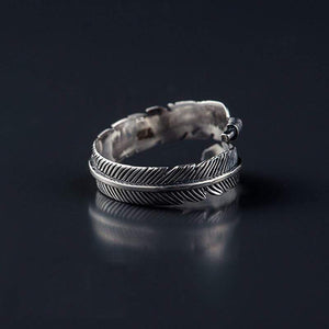 The 925 Sterling Silver Feather Ring - Soul Sound Baths