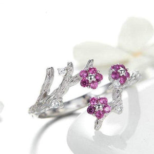 The 925 Sterling Silver Winter Flower Trio Ring - Soul Sound Baths
