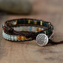 Load image into Gallery viewer, The Handmade Natural Amazonite and Onyx Gemstone Wrap Bracelet - Soul Sound Baths