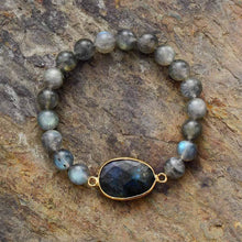 Load image into Gallery viewer, The Handmade Natural Blue Labradorite Gemstone Bead Bracelet - Soul Sound Baths