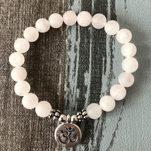 Load image into Gallery viewer, The Handmade Natural Matte Rose Quartz Gemstone Bead Mala Bracelet - Soul Sound Spirited