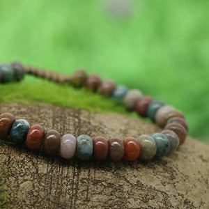 The Handmade Natural Ocean Agate Oval Gemstone Beads Bracelet - Soul Sound Baths