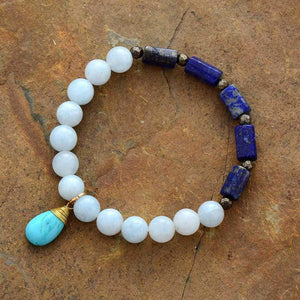 The Lapis Lazuli and Amazonite Purification Bracelet with Turquoise Charm - Soul Sound Baths