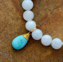 Load image into Gallery viewer, The Lapis Lazuli and Amazonite Purification Bracelet with Turquoise Charm - Soul Sound Baths