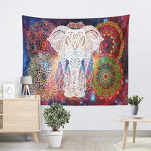 Load image into Gallery viewer, The Metaphysical Elephant Mandala Wall Tapestry Art Piece - Soul Sound Baths
