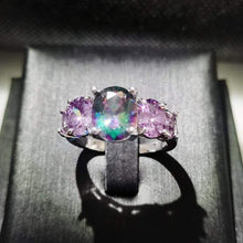 Load image into Gallery viewer, The Mystic Topaz 5 Gemstone and 925 Silver Ring - Soul Sound Baths