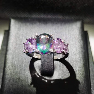 The Mystic Topaz 5 Gemstone and 925 Silver Ring - Soul Sound Baths