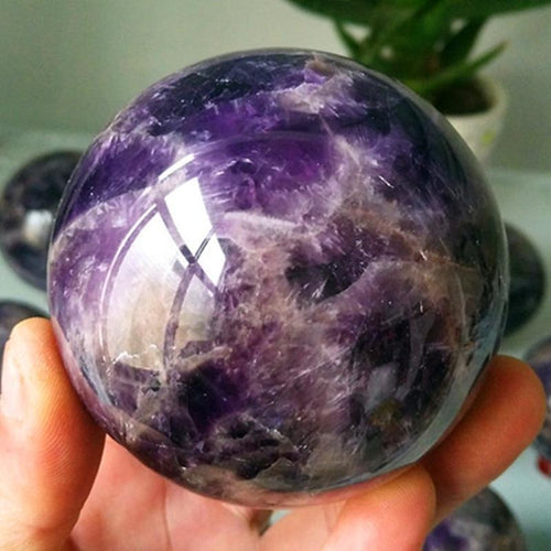 The Natural Amethyst Stone Sphere - Soul Sound Baths