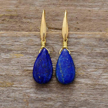 Load image into Gallery viewer, The Natural Blue Lapis Gemstone Earrings - Soul Sound Baths