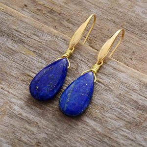 The Natural Blue Lapis Gemstone Earrings - Soul Sound Baths