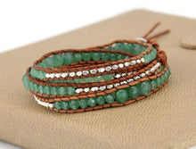 Load image into Gallery viewer, The Natural Handmade Aventurine Gemstone Beads Wrap Bracelet - Soul Sound Spirited