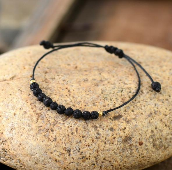 The Natural Handmade Lava Stone Boho Bracelet - Soul Sound Baths