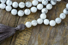 Load image into Gallery viewer, The Natural Howlite Mala Bead and Tassel Pendant Necklace - Soul Sound Baths