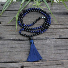 Load image into Gallery viewer, The Natural Lapis Lazuli and Black Onyx Mala Bead Necklace - Soul Sound Baths
