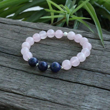 Load image into Gallery viewer, The Natural Rose Quartz and Lapis Lazuli Gemstone Beads Bracelet - Soul Sound Baths