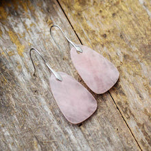 Load image into Gallery viewer, The Natural Rose Quartz Gemstone Clarity Bringing Earrings - Soul Sound Baths