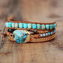 Load image into Gallery viewer, The Natural Turquoise Howlite Gemstone Wrap Bracelet - Soul Sound Baths