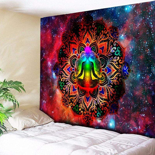 The Seven Chakra Astral Galaxy Wall Art Tapestry Piece - Soul Sound Baths