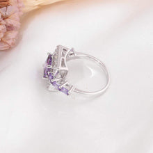 Load image into Gallery viewer, The Square Shaped Amethyst Gemstone Ring - Soul Sound Baths