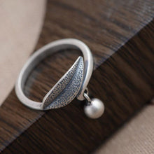 Load image into Gallery viewer, The Sterling Silver 925 Nature Leaf Charm Dangle Wrap Ring - Soul Sound Baths
