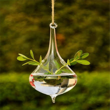 Load image into Gallery viewer, The Tear Drop Shaped Flower and Plant Hanging Glass Vase - Soul Sound Baths