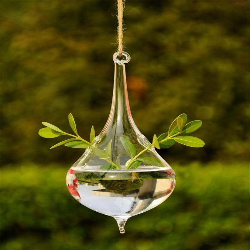 The Tear Drop Shaped Flower and Plant Hanging Glass Vase - Soul Sound Baths