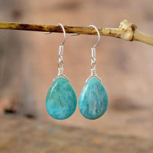 Load image into Gallery viewer, The Teardrop Shaped Amazonite Gemstone Earrings - Soul Sound Baths