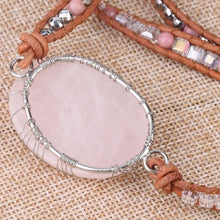 Load image into Gallery viewer, The Tree of Life Natural Pink Quartz Gemstone Bracelet - Soul Sound Baths