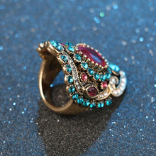 Load image into Gallery viewer, The Turkish Sapphire Gemstone Mosaic Ring - Soul Sound Baths