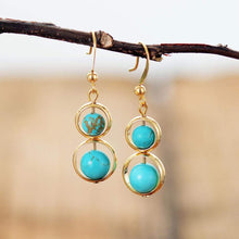 Load image into Gallery viewer, The Turquoise Gemstone Dangle Earrings - Soul Sound Baths