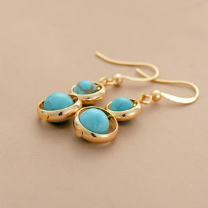 The Turquoise Gemstone Dangle Earrings - Soul Sound Baths