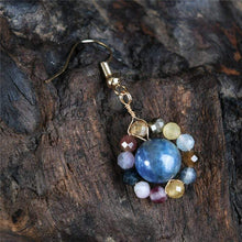 Load image into Gallery viewer, The Vintage Natural Stone Saturn Drop earrings - Soul Sound Baths