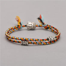 Load image into Gallery viewer, The Vibrant Buddhist Tibetan Charms Natural Rope Bracelet Varieties - Soul Sound Baths