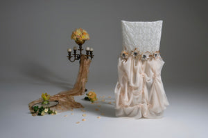 Lace & Silk Chair Cover