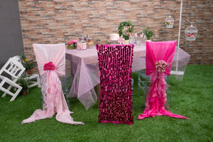 Mirror Sequin Chair Covers